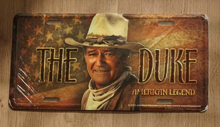 "Billboard  "" The original duke American legend "" John Wayne"
