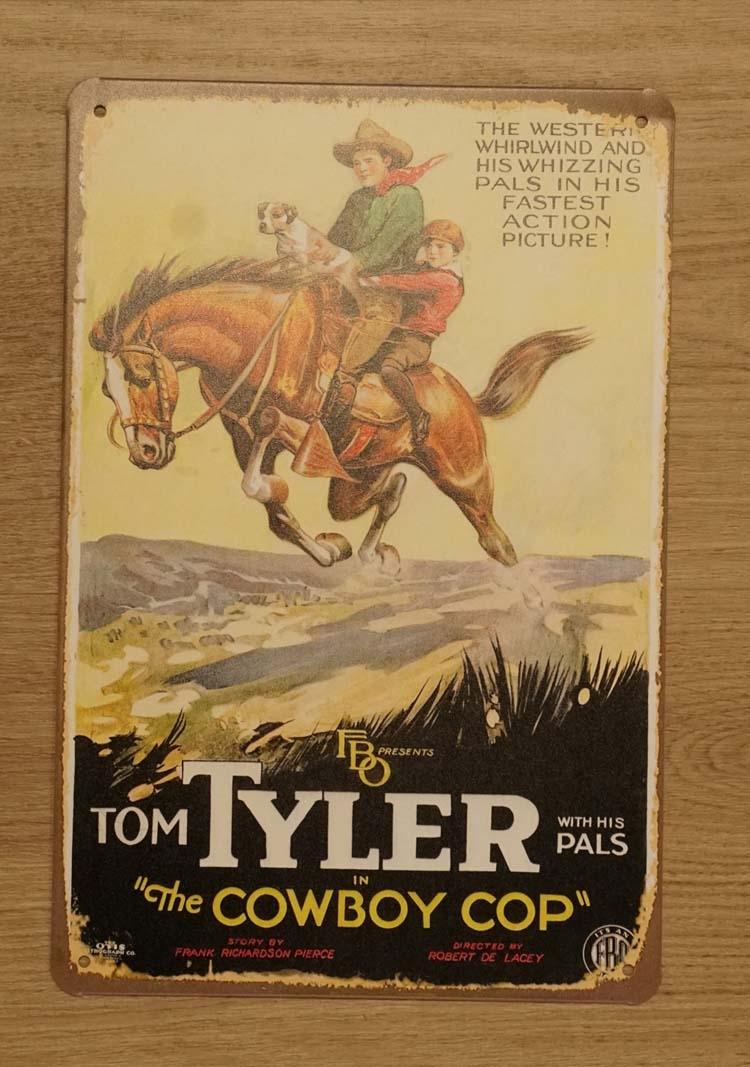 """Billboard  """" Tom Tyler cowboy """""""