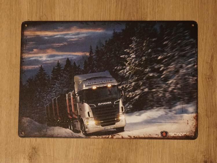 """Billboard  """" Vrachtwagen in de sneeuw """""""