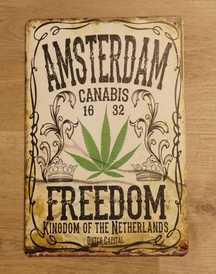 """Billboard """" Amsterdam canabis freedom """""""