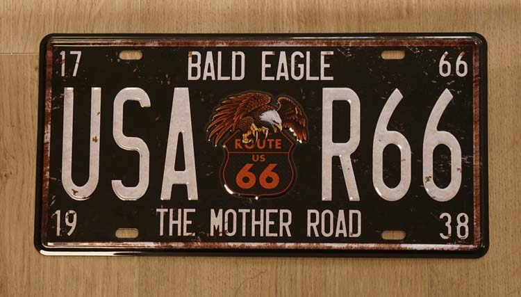 """Billboard """" Bald eagle ROUTE 66 the mother road """" USA R66"""