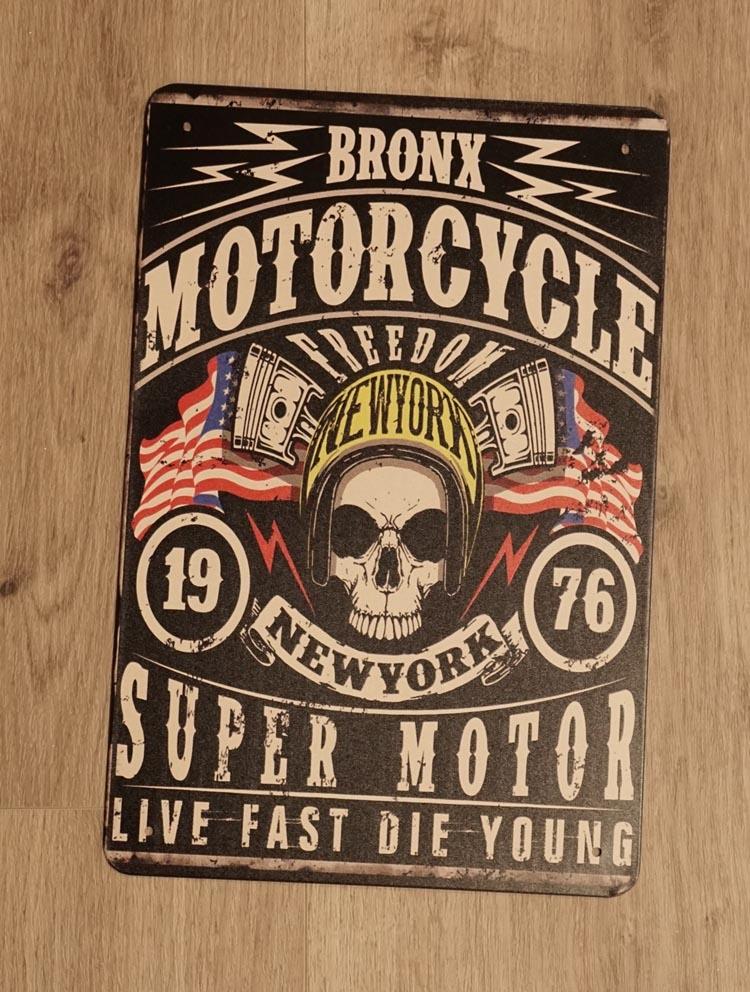 "Billboard "" Bronx motorcylce,1976 New York super motor """