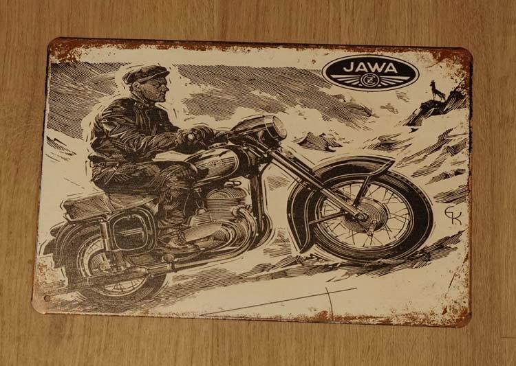"Billboard "" Motorrijder JAWA """