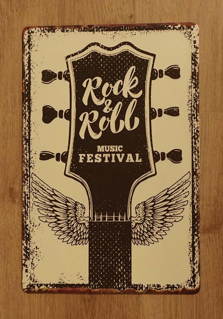 """Billboard """" Rock & Roll music festival """""""