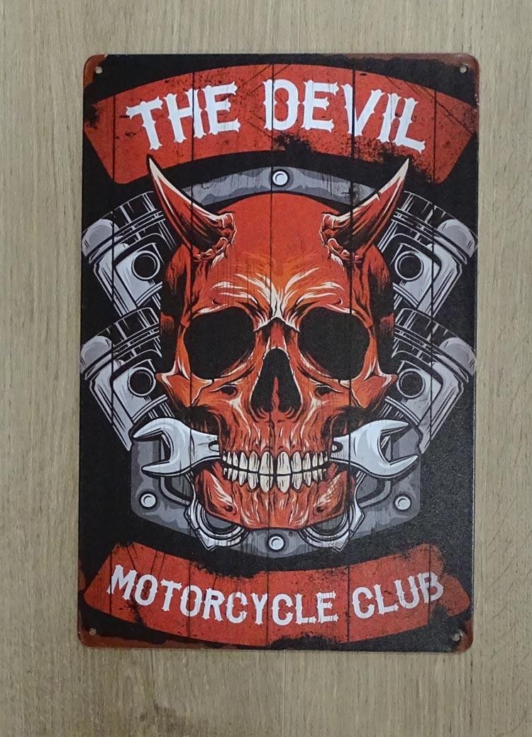 "Billboard "" The devil motorcycle club """