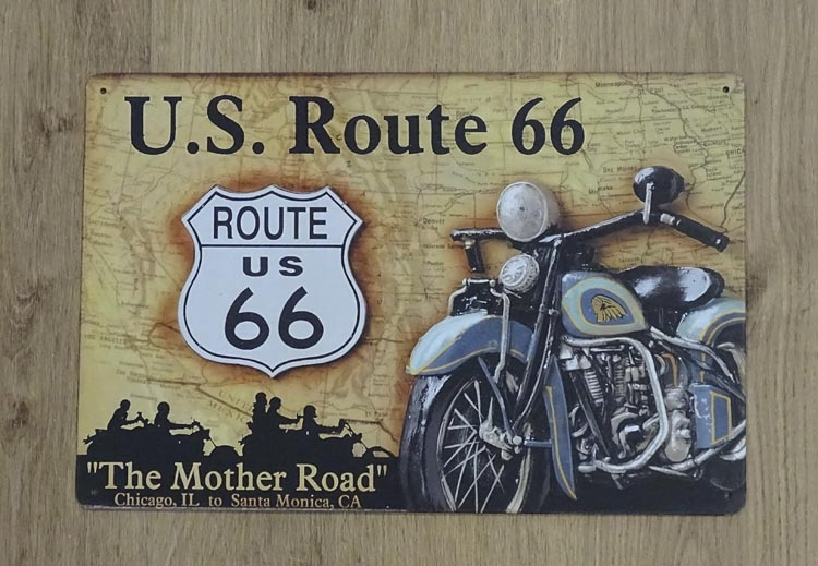 """Billboard """" U.S. route 66, The mother road """""""