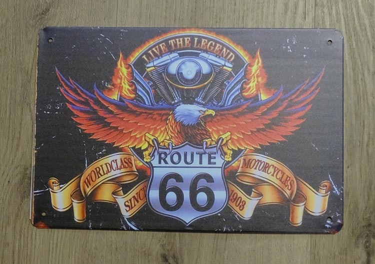 """Billboard """" Worldclass route 66 motorcycles """""""