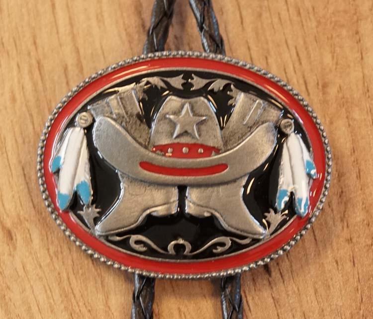 """Bolo tie  """" Cowboy laarzen + hoed """"  UITVERKOCHT"""