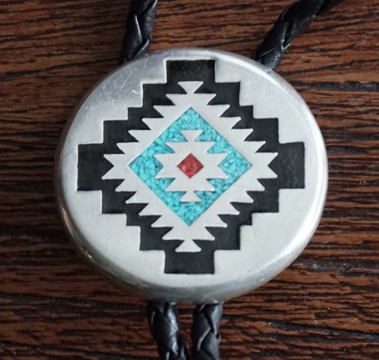 """Bolo tie in indiaanse styl  """" Abstrad """""""