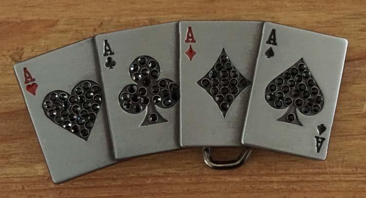 """Buckle """"  4 Azen / pokerhand """""""