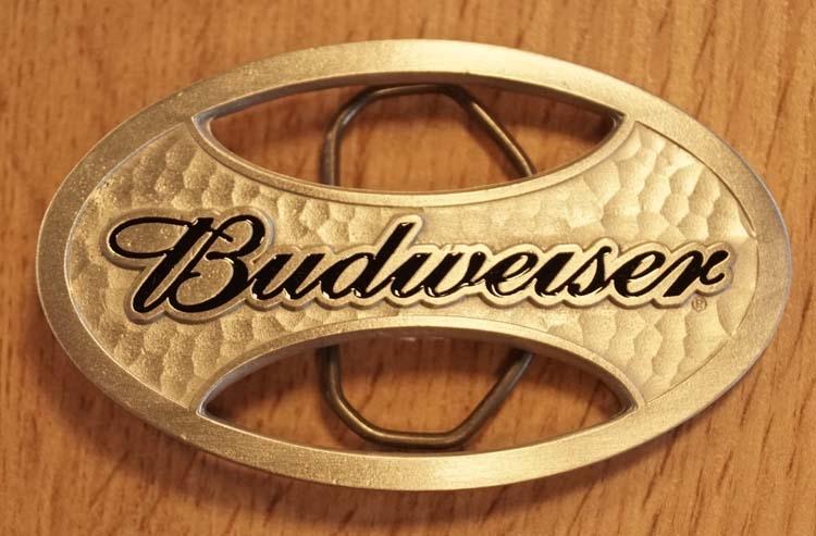 "Buckle  "" Budweiser ""   nikkelkleurig"