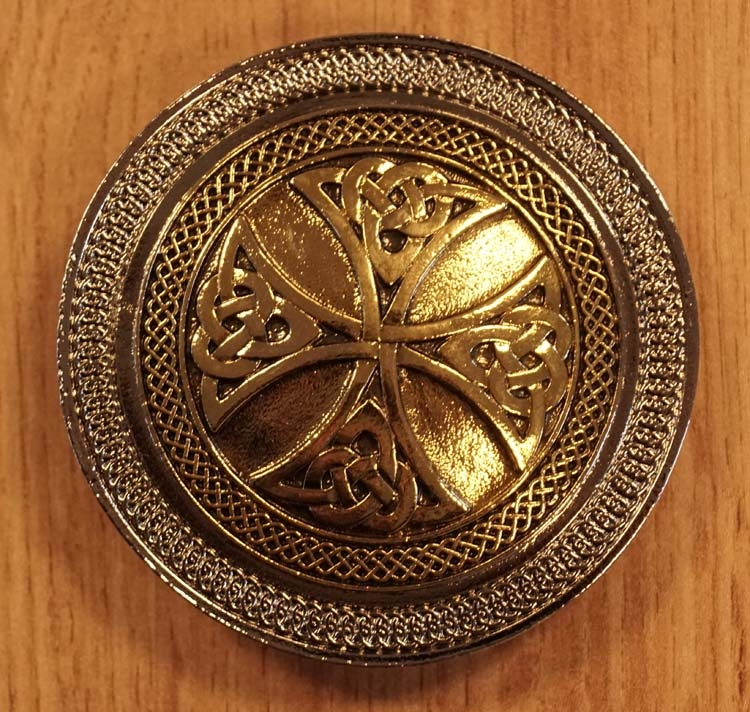"Buckle  "" Celtic cross with knots """