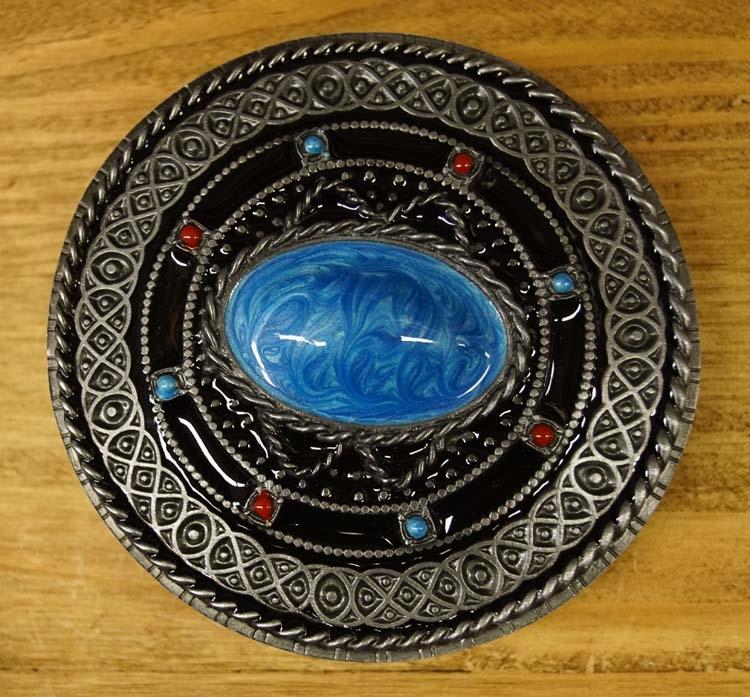 """Buckle  """" Celtic teken met blauwe steen """""""