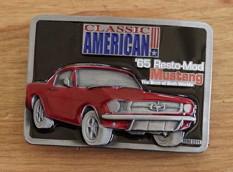 "Buckle  "" Classic American '65 Resto-mod Mustang """