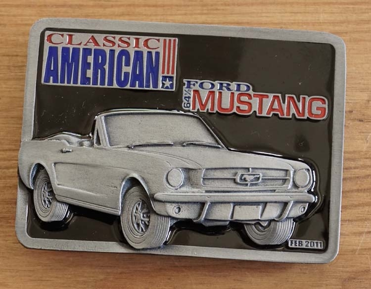 """Buckle  """" Classic American Ford Mustang 61 """""""