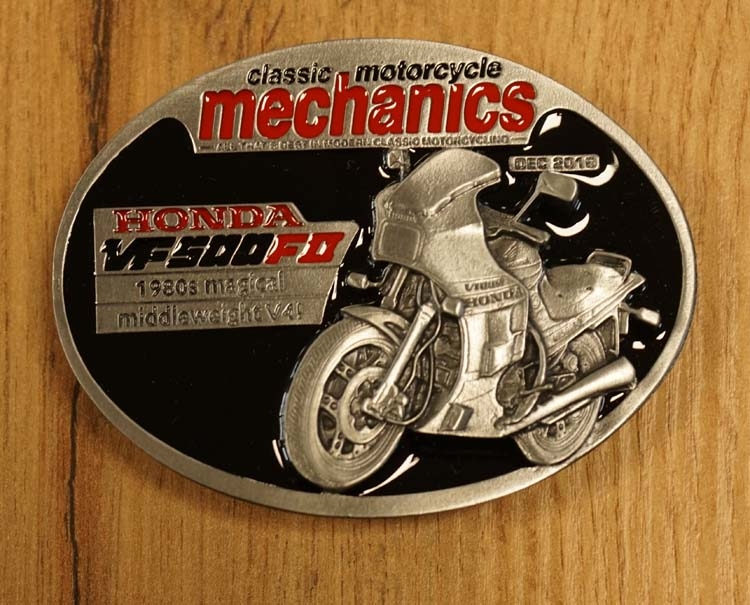 "Buckle  "" Classic motorcycle mechanics "" Honda"