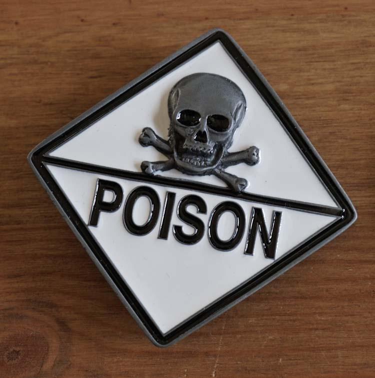 """Buckle  """" Doodskop Poison """""""