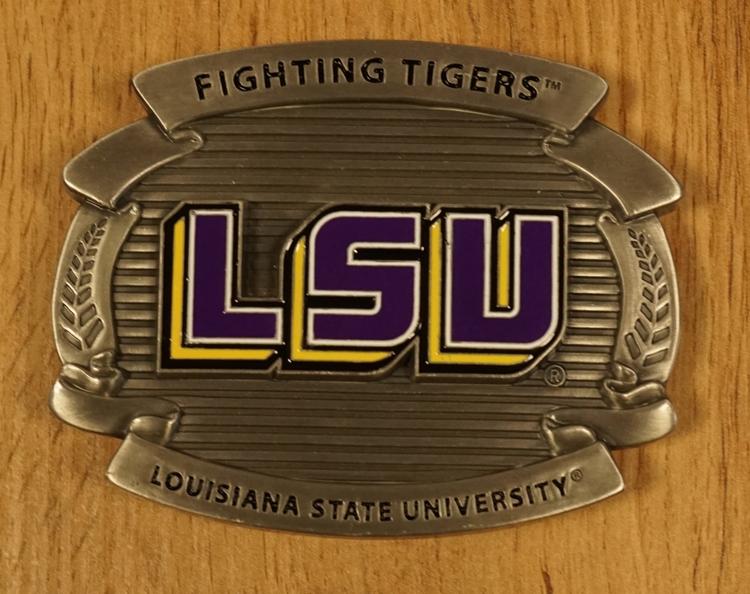 "Buckle  "" Fighting tigers Louisiana state university """