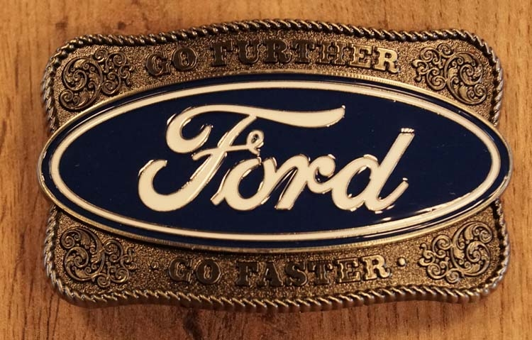 """Buckle  """" Go further Ford go faster """""""