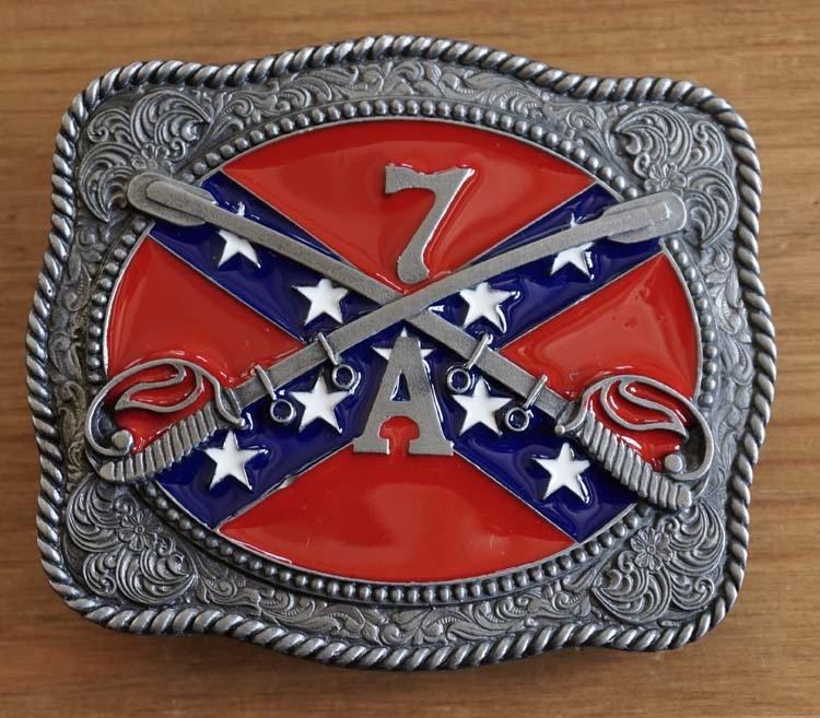 """Buckle  """" Rebel vlag met 2 zwaarden 7A """""""