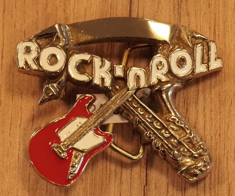 """Buckle  """" Rock 'n Roll """"  saxfoon + gitaar"""