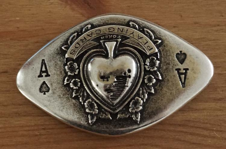"""Buckle  """" Schoppen aas playing cards """""""