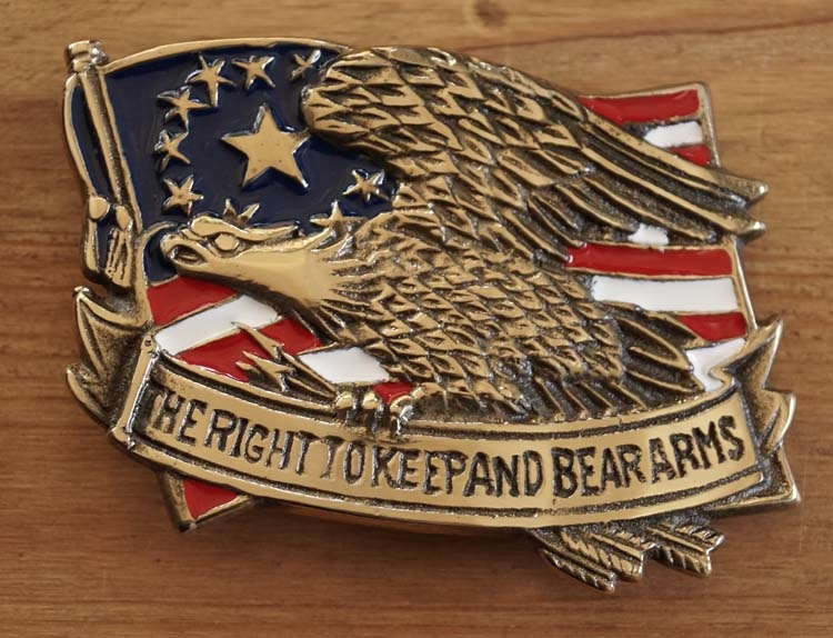 """Buckle  """" The right to keep and bear arms """""""