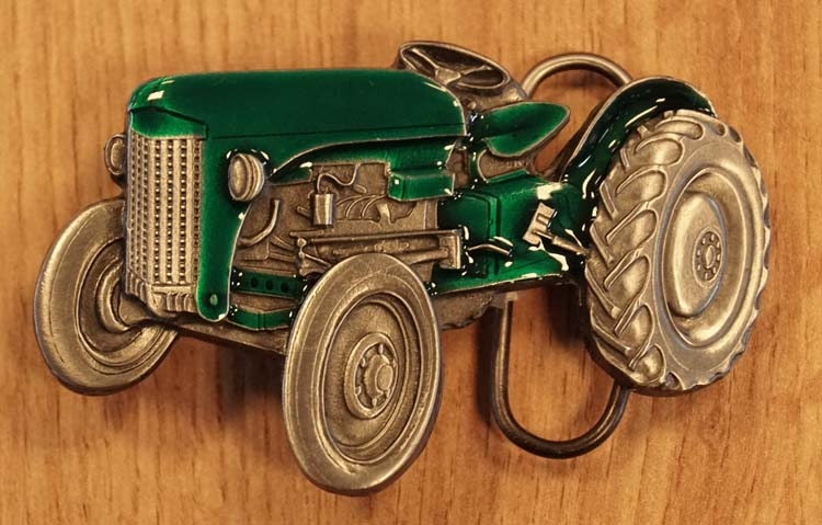 """Buckle  """" Tractor """"  groen"""