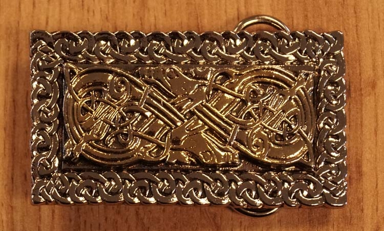 "Buckle  "" Twin dogs ""  zilver- / goudkleurig"