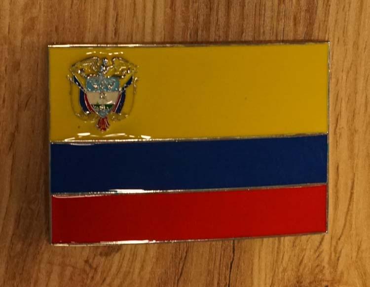 """Buckle  """" Vlag van Ecuador """""""