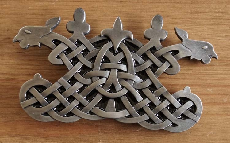 "Buckle "" Celtic birds """