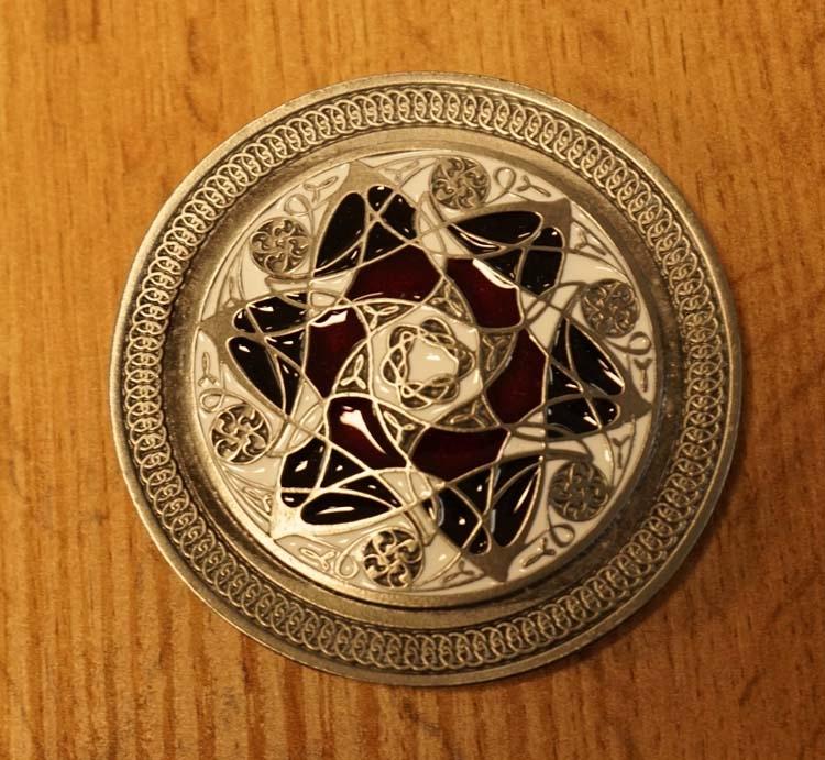 "Buckle "" Celtic flower """