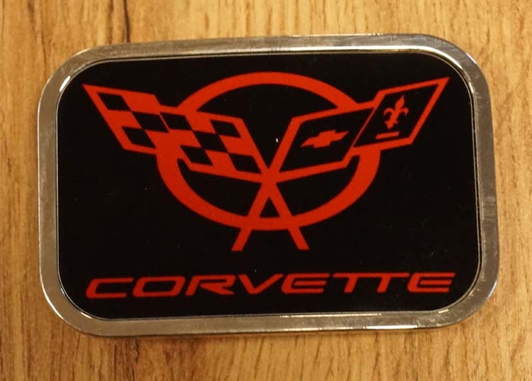 "Buckle "" Corvette ""  zwart / rood"
