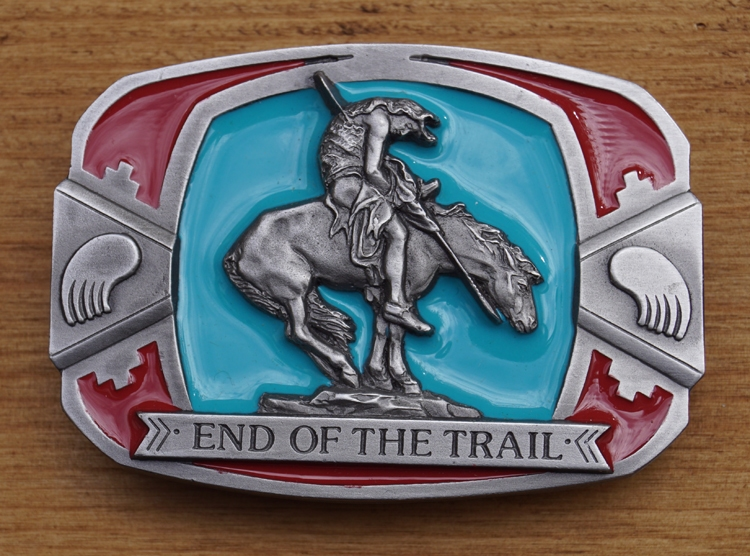 """Buckle / gesp  """" End of the trail """""""