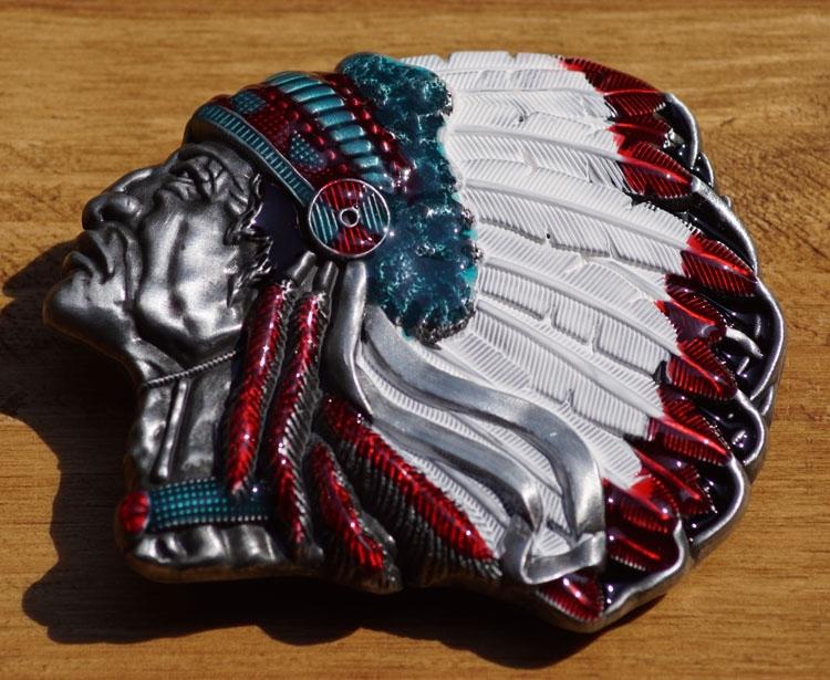 """Buckle / gesp  """" Indianen hoofd """""""