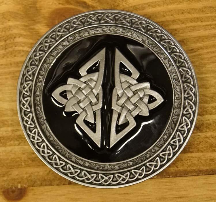 """Buckle / gesp  """" Keltische design, two knots """""""