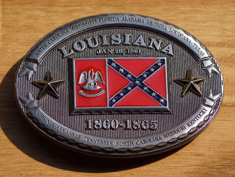 "Buckle / gesp  "" Louisiana 1860 - 1865 """
