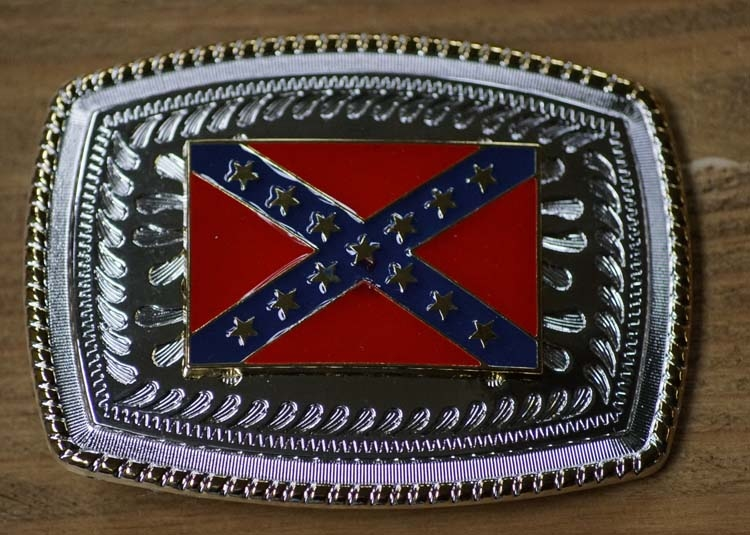 "Buckle / gesp  "" Rebel flag """