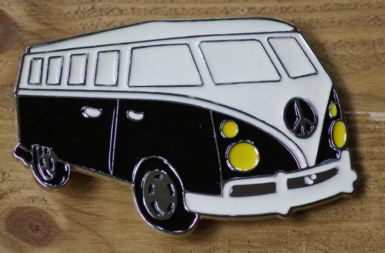 """Buckle / gesp  """" Transport busje  """"  Zwart / wit"""