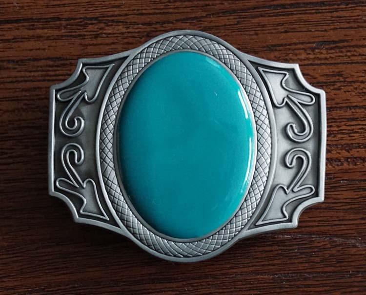 """Buckle """" Grote turquoise steen + sierwerk """""""