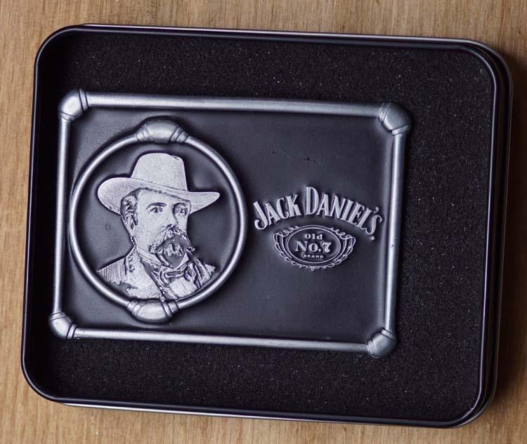 """Buckle """" Jack Daniels """"   Afbeelding hoofd van Jack"""