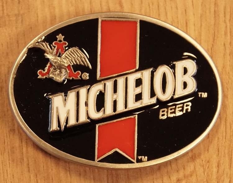 """Buckle """" Michelob beer """"  zwart / rood"""