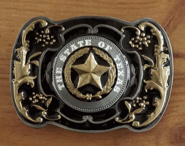 "Buckle "" The state of Texas ""   zwart / goudkleurig"