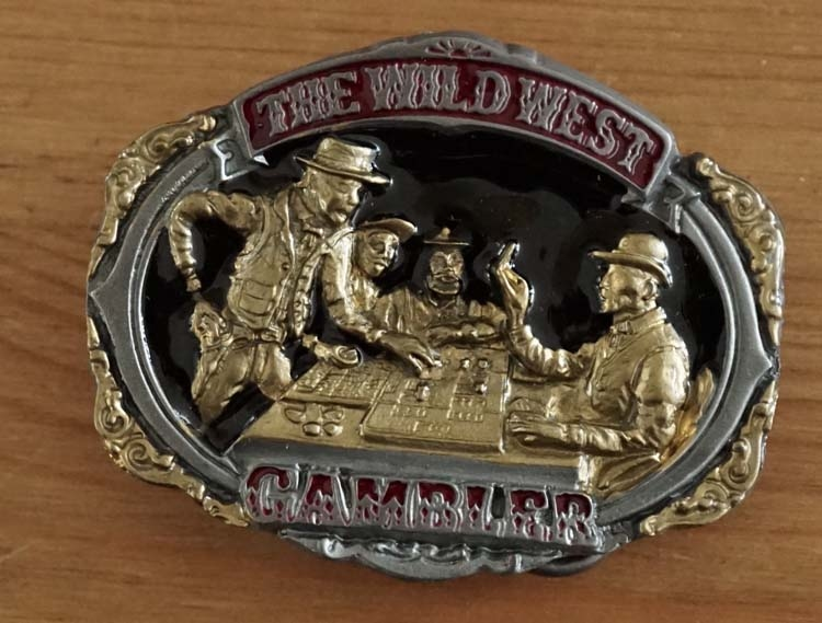 """Buckle """" The wild west gambler """""""