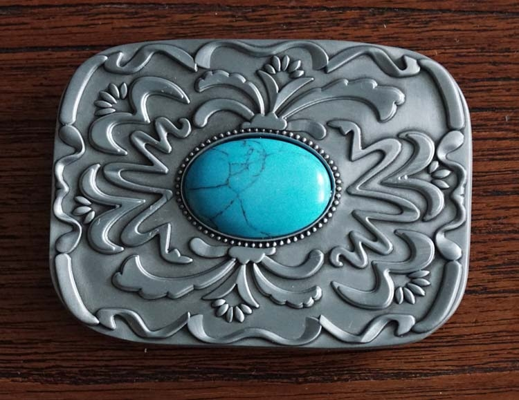 "Buckle "" Turquoise steen + sierwerk """