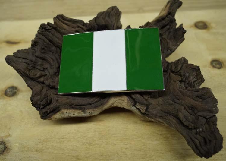 """Gesp buckle  """" Vlag Nigeria """""""
