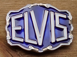 """Elvis buckle  """" Elvis """"  Blauw / wit  UITVERKOCHT"""