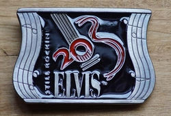 "Elvis buckle  "" Still Rockini Elvis """