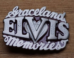 "Elvis buckle  "" Graceland Elvis memories """