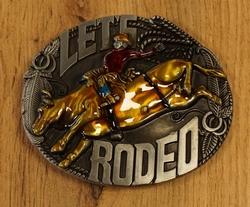 """Western buckle  """"  Paarden met huifkar """""""